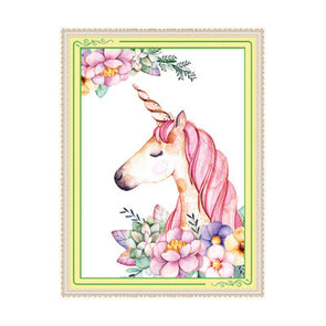 Unicorn - 11CT Stamped Cross Stitch - 48x65cm