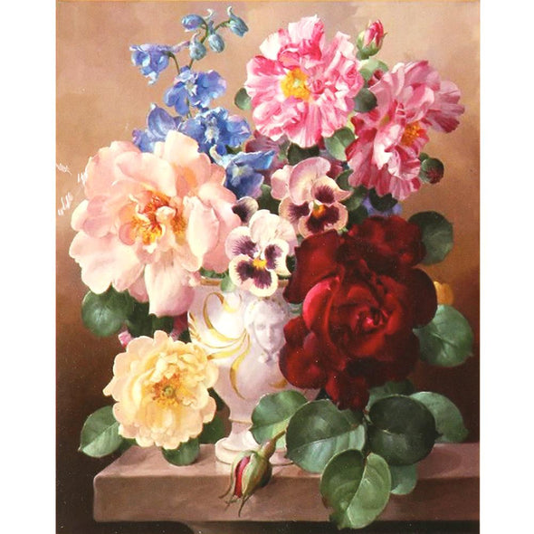 Colorful Flowers - Cross Stitch - 54x64cm