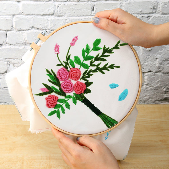 Rose Flower - Embroidery - 30x30cm
