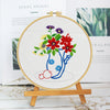 Blooming Flowers - Embroidery - 25x25cm