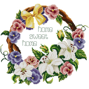 Flower  - Cross Stitch - 35x33cm