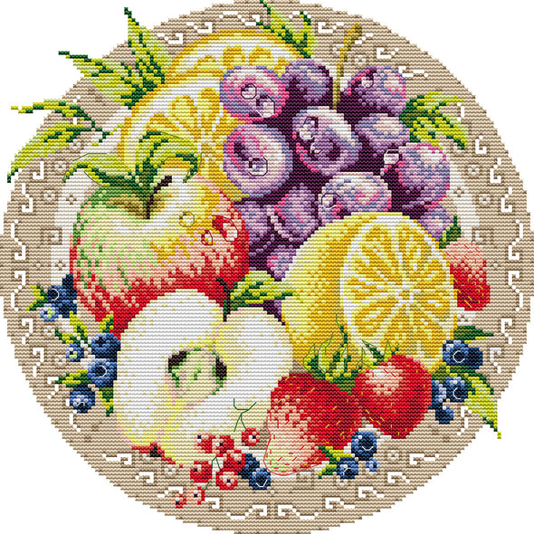 Apples - Cross Stitch - 34x34cm