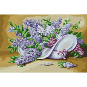 Lilac Flower - Cross Stitch - 62x44cm