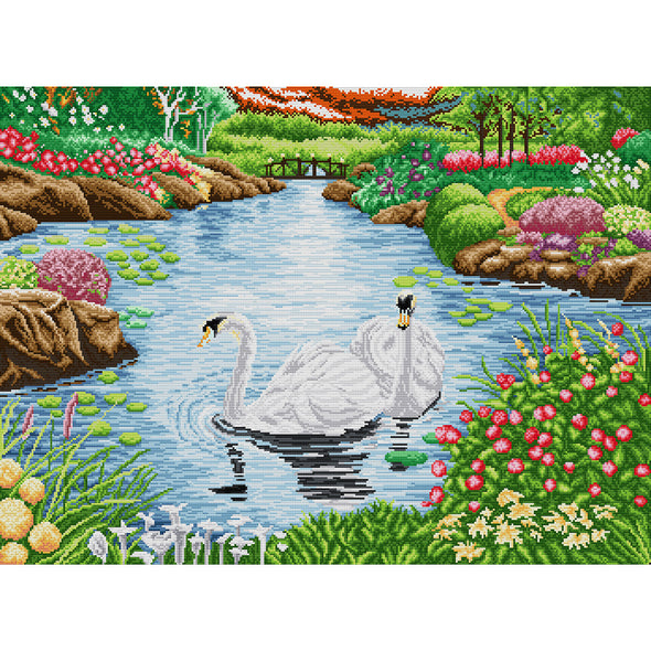 Swan Lake - Cross Stitch - 71x55cm