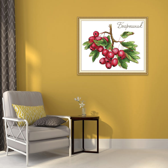 Hawthorn - Cross Stitch - 29x22cm
