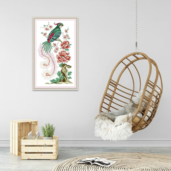 Blooming Flowers - Cross Stitch - 27x42cm