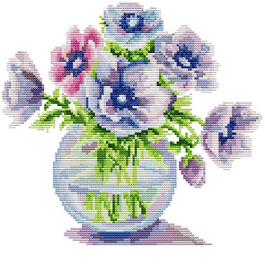 Flowerss  - Cross Stitch - 29x29CM