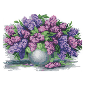 Flower - Cross Stitch - 45x34xm