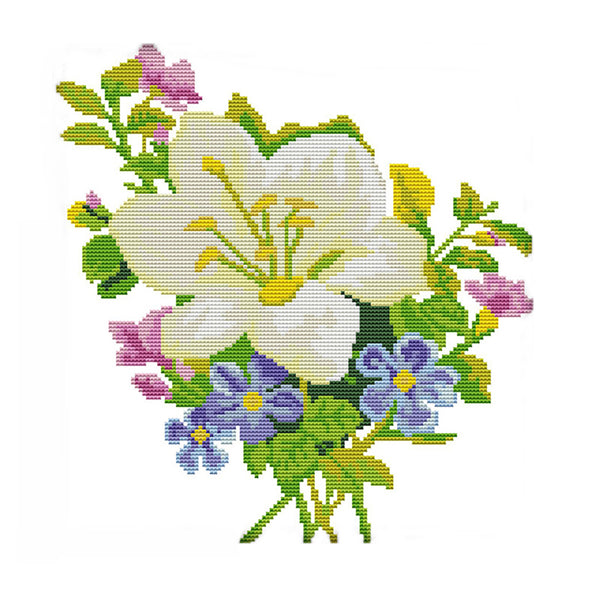 Flower - Cross Stitch - 31x32cm