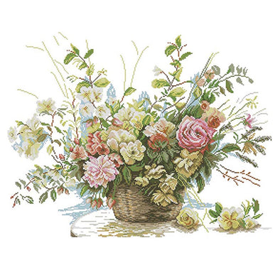 Rose Basket - Cross Stitch - 65*61cm