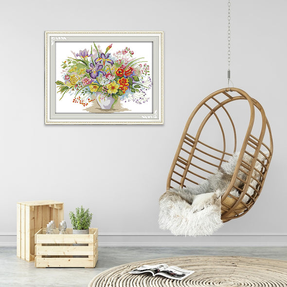 Blooming flowers - Cross Stitch - 47*36cm