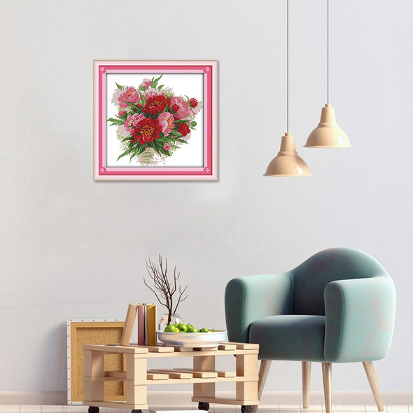 Flower  - Cross Stitch - 33x32cm
