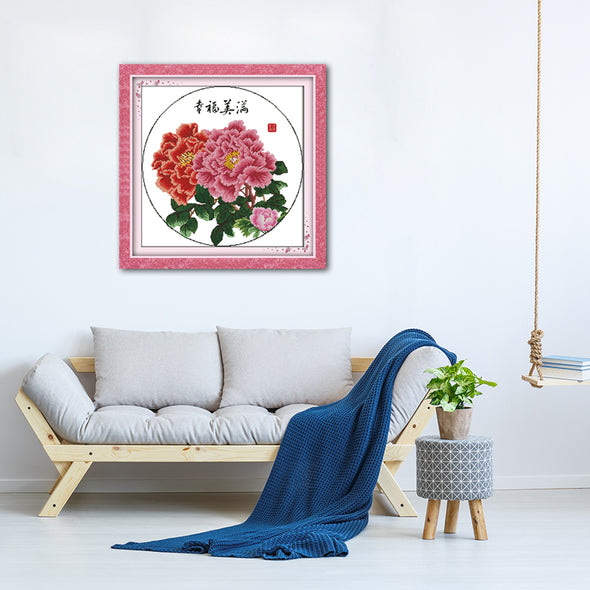 Flower - Cross Stitch - 50x50cm