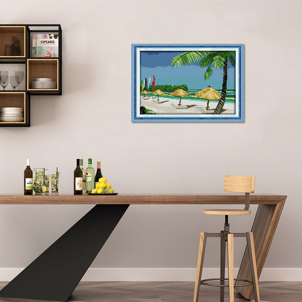 Beach Scenery - Cross Stitch - 37x26cm
