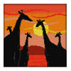 Sunset Giraffe  - Cross Stitch - 23*23cm