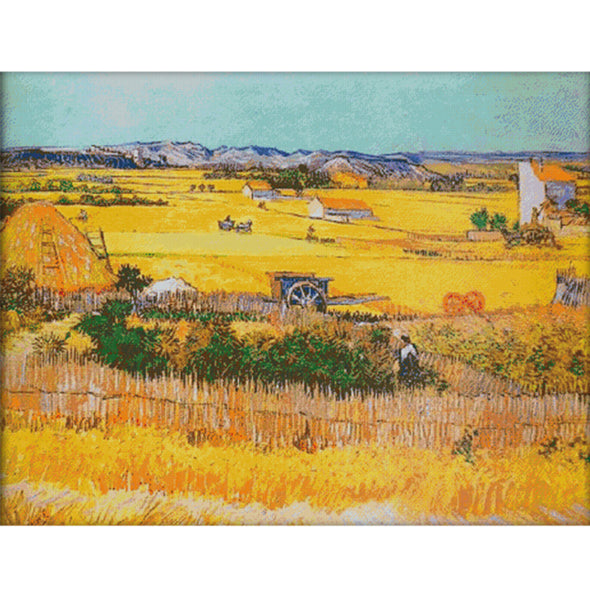 Harvest Wheat Field - Cross Stitch - 94x74cm