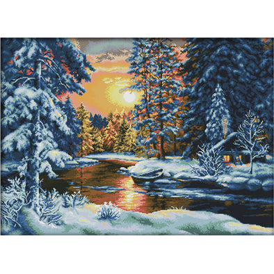 Sunset Snow - Cross Stitch - 74x56cm