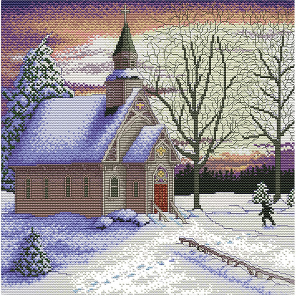 Scenery  - Cross Stitch - 41x41cm