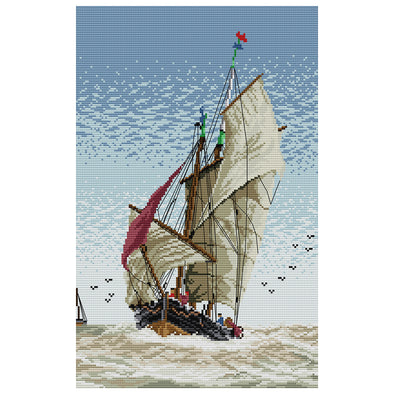 Sailboat - Cross Stitch - 46*32cm