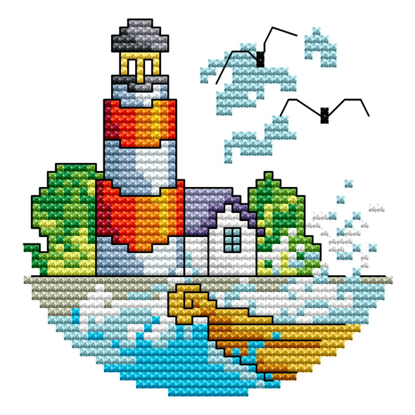 Seaside Summer - Cross Stitch - 16*16cm