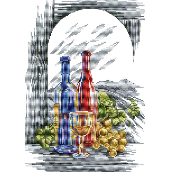 Wine - Cross Stitch - 36*27cm