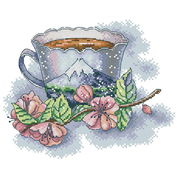 Teacup  - Cross Stitch - 28x21cm