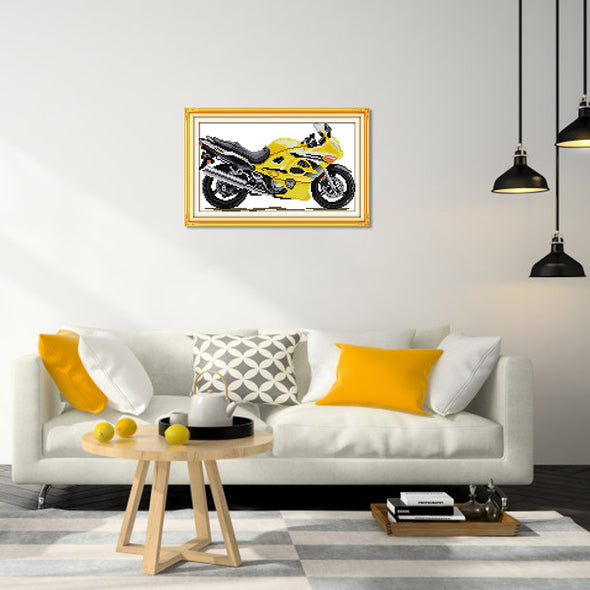 Vehicles   - Cross Stitch - 30*18cm
