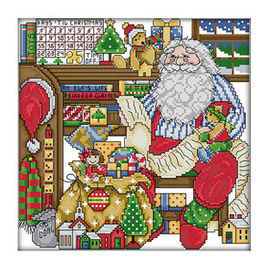 Santa Claus - Cross Stitch - 29*29cm