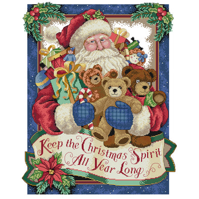Happy Christmas  - Cross Stitch - 44x54cm