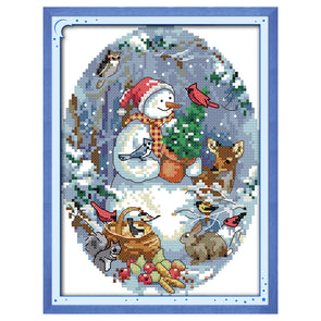 Snowman Friends  - Cross Stitch - 22*18cm