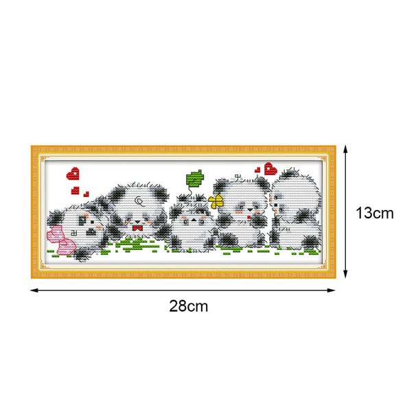 Cute little panda - Cross Stitch - 28*13cm