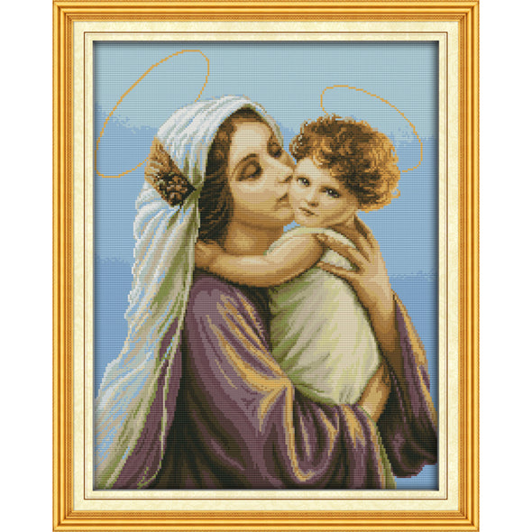 Virgin and Child - Cross Stitch - 52*42cm