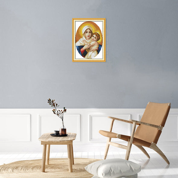 Virgin and Child - Cross Stitch - 48*36cm