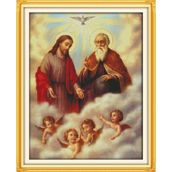 Jesus and the little angel - Cross Stitch - 57*46cm
