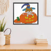 Magic pumpkin cat - 14CT Stamped Cross Stitch - 22*19cm