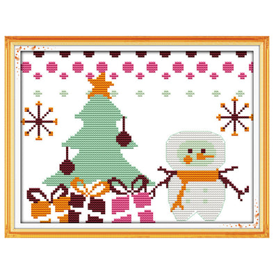 Christmas snowman - Cross Stitch - 27*19cm