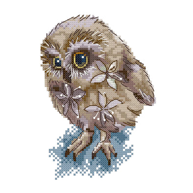 Beautiful Owl - 14CT Stamped Cross Stitch - 15*20cm
