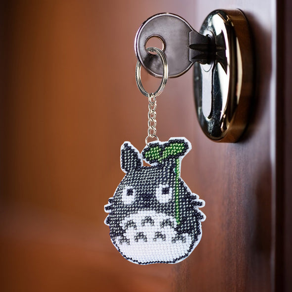 Totoro - Stamped Bead Embroidery