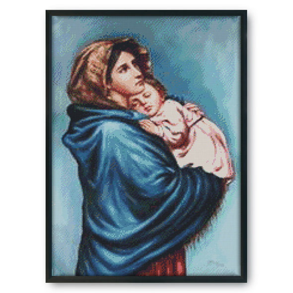 Our Lady - 14CT Stamped Cross Stitch - 51*36cm
