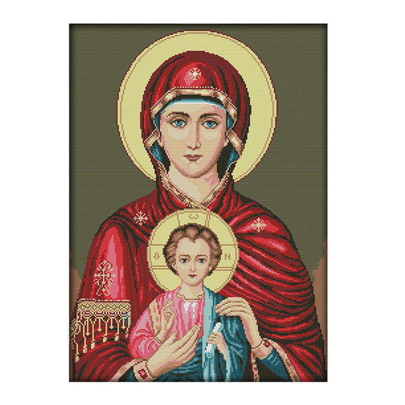 Virgin and Child - 14CT Stamped Cross Stitch - 57*44cm