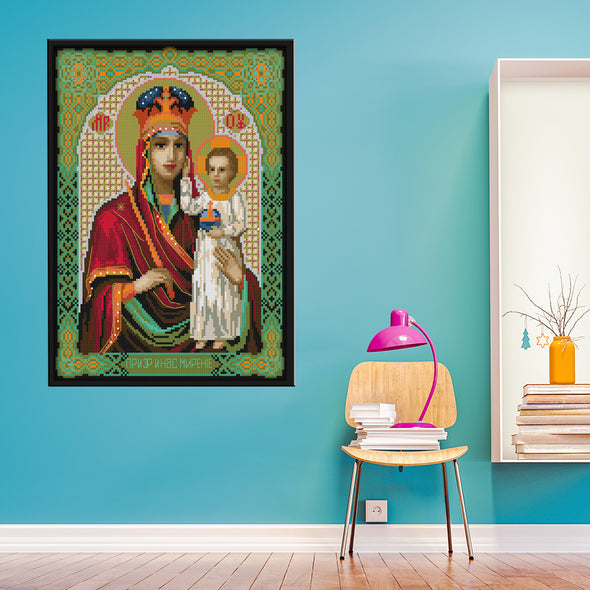 Virgin and Child - 14CT Stamped Cross Stitch - 36*29cm
