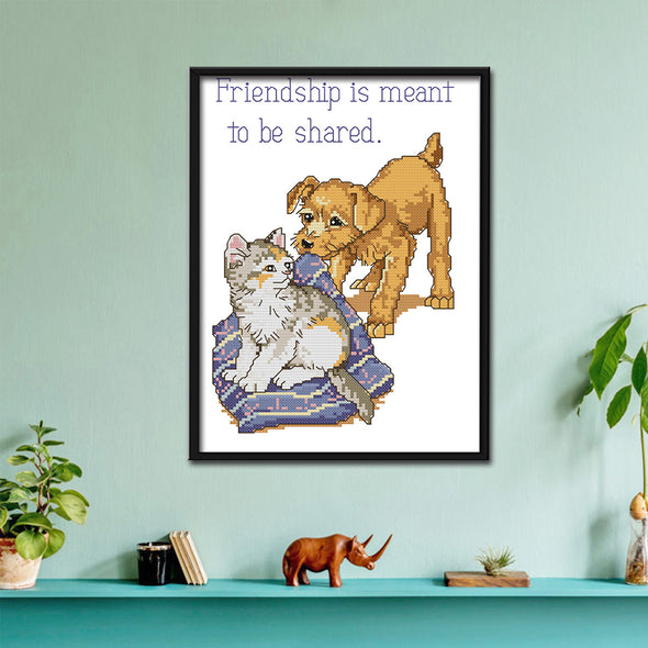 Animal - 14CT Stamped Cross Stitch - 26x32cm