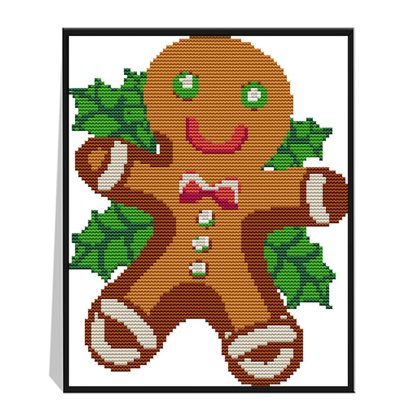 Christmas villain cookies - 14CT Stamped Cross Stitch - 27*21cm