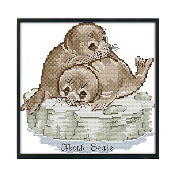 seal - 14CT Stamped Cross Stitch - 26*26cm