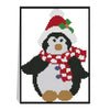 Christmas penguin - 14CT Stamped Cross Stitch - 21*17cm