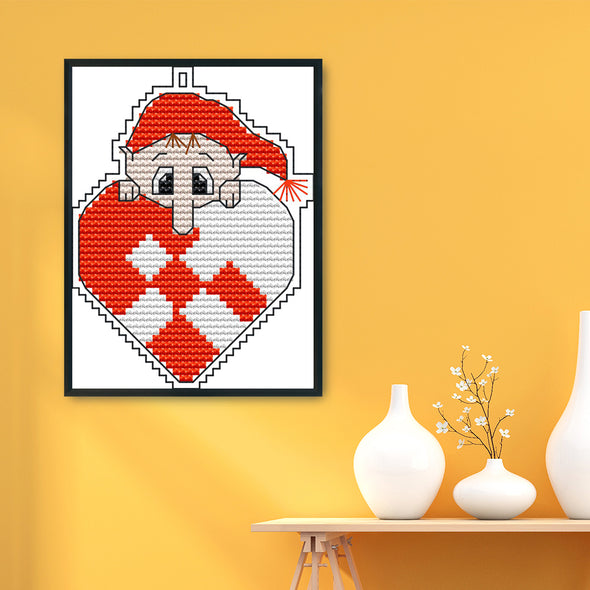Christmas - 14CT Stamped Cross Stitch - 14*10cm