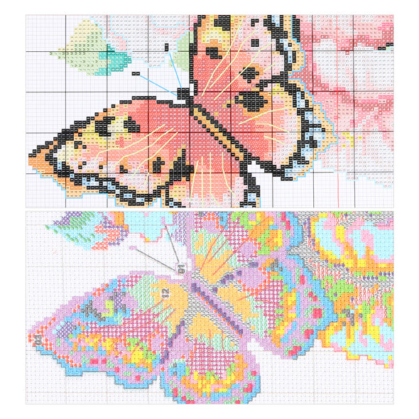Beautiful flamingo - 14CT Stamped Cross Stitch - 20*14cm