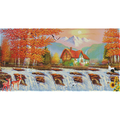 Golden Age - 14CT Stamped Cross Stitch - 90*51cm
