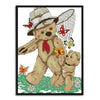 Daddy Bear And Little Bear - 14CT Stamped Cross Stitch - 22x28cm