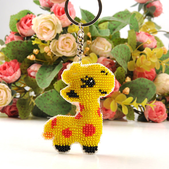 giraffe - Stamped Bead Embroidery